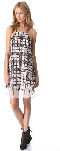 3.1 phillip lim Degrade Plaid Patchwork Apron Dress