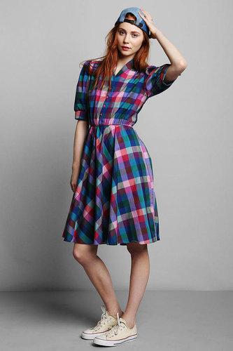 Vintage '80s Plaid Dress