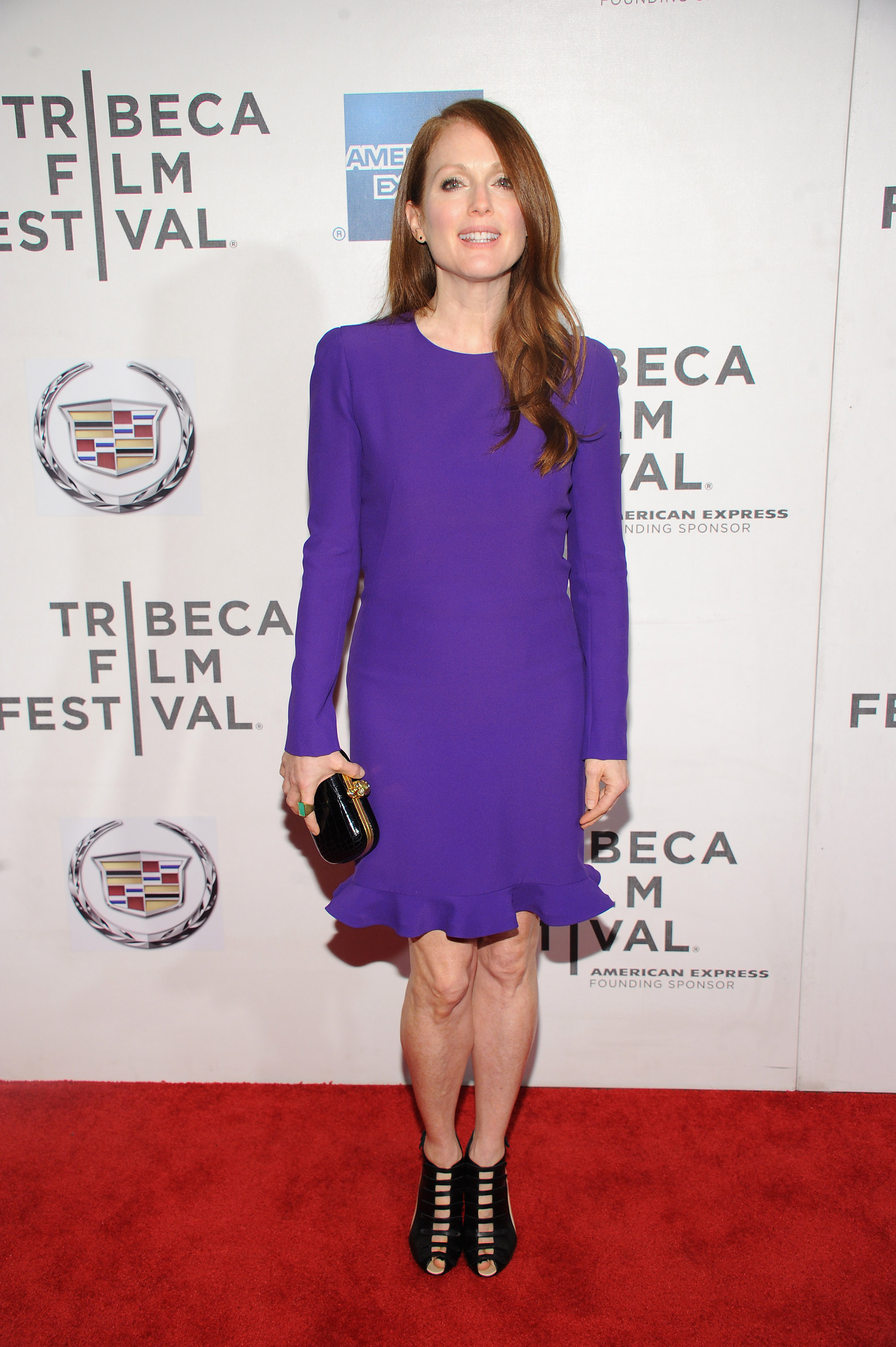 Julianne Moore stunned in purple for the premiere of The English