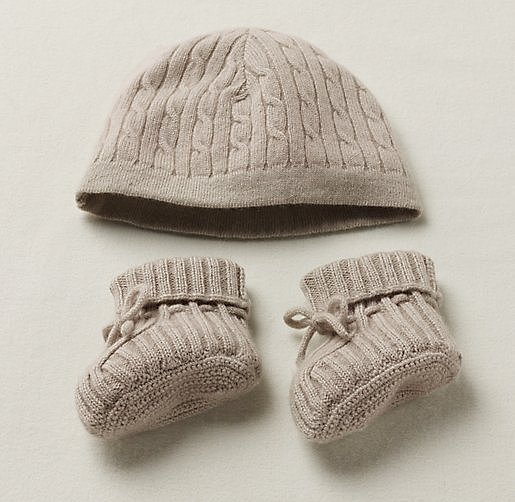 Restoration Hardware Baby & Child Cashmere Hat and Booties