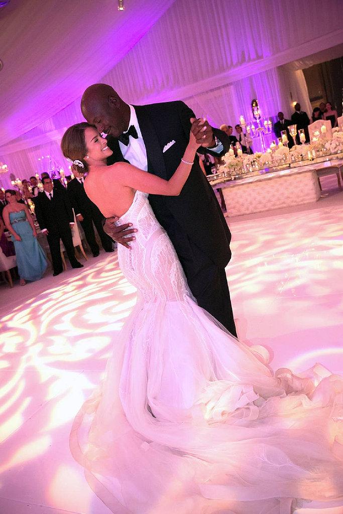 Michael Jordan danced with his bride, Yvette Prieto, at their lavish April affair at the Bear's Club in Florida.
