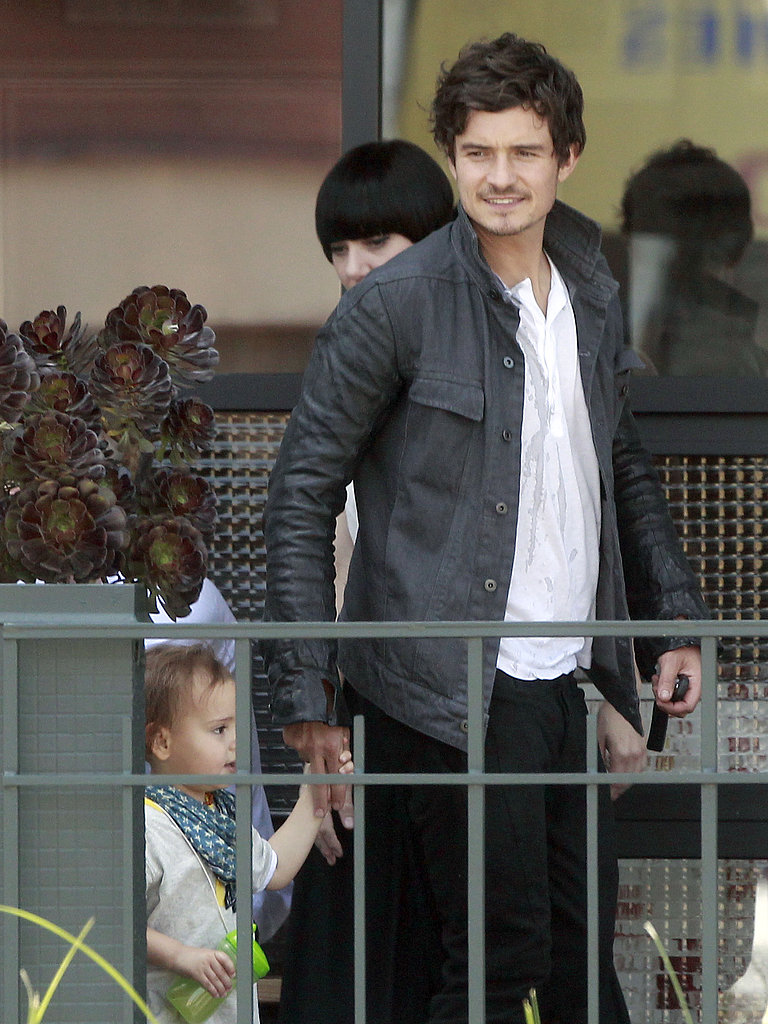Orlando Bloom and Flynn Bloom grabbed a bite to eat.