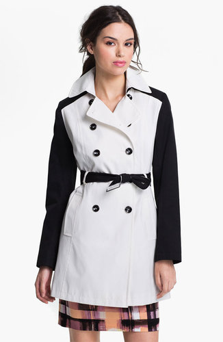 DKNY Two Tone Trench Coat