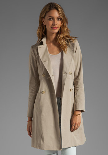 Theory Practical Aminta B Stretch Twill Trench