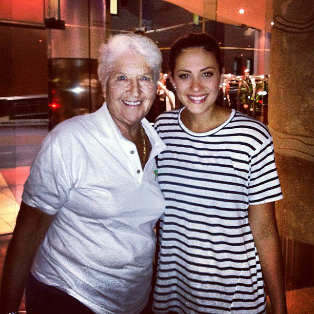 Two Olympic swimming legends in the series: Dawn Fraser and Stephanie Rice Source: Instagram user itsstephrice