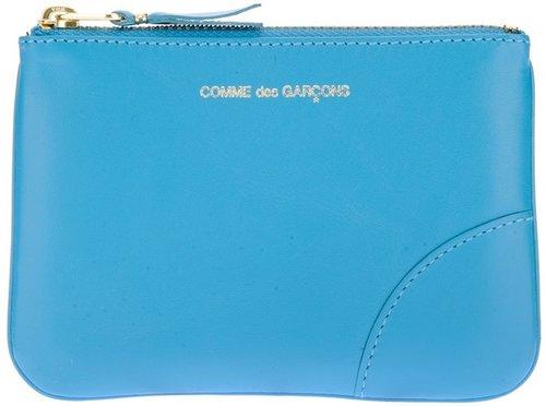 Comme Des Garçons Wallet logo zip purse
