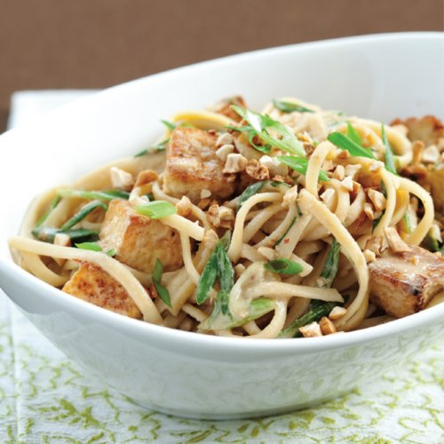 Sesame Noodles With Tofu, Scallions, and Cashews