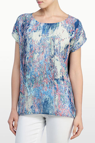 Marbelized Print Top