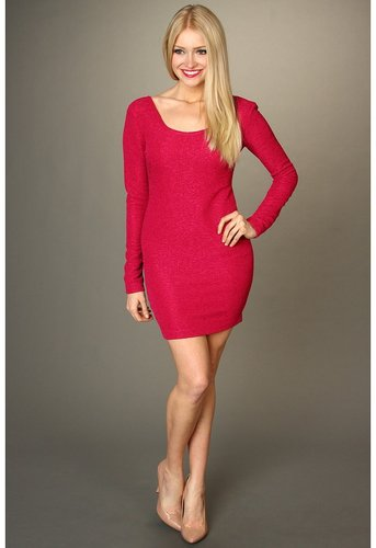 BCBGeneration - Low Back Dress (Red Berry) - Apparel