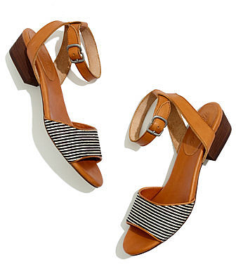 The louie sandal in striped calf hair