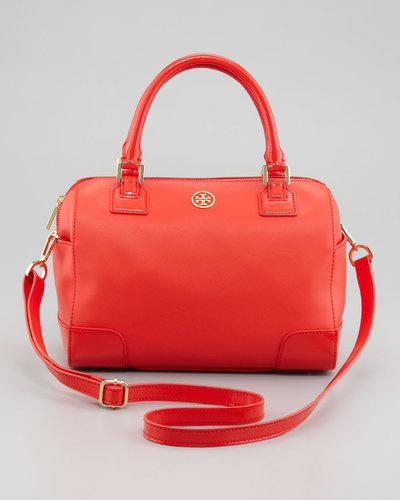 Tory Burch Robinson Middy Satchel Bag, Poppy Red