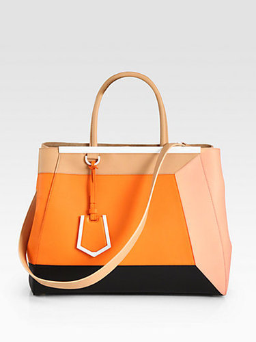Fendi 2Jour Medium Colorblock Satchel