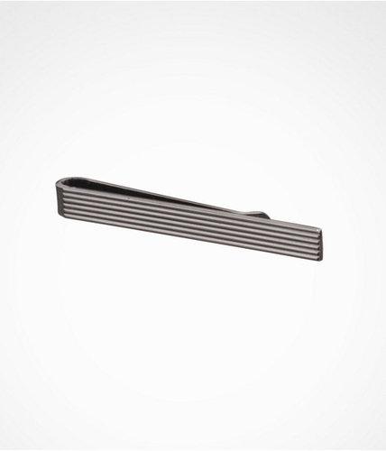 Ribbed Metal Tie Clip