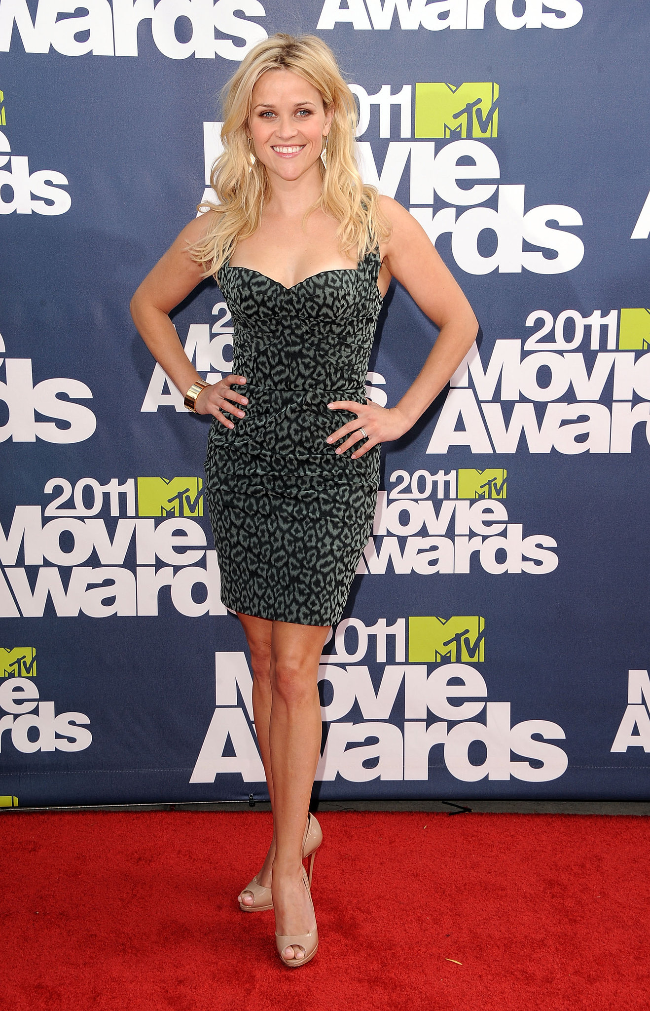 Reese looked fierce in a leopard-print Zac Posen mini at the MTV Movie Awards in 2011.