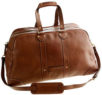 Montague leather weekender