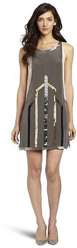 Madison Marcus Women's Gatsby Woven Beading Dress