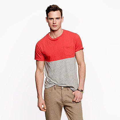 Flagstone pocket tee in colorblock