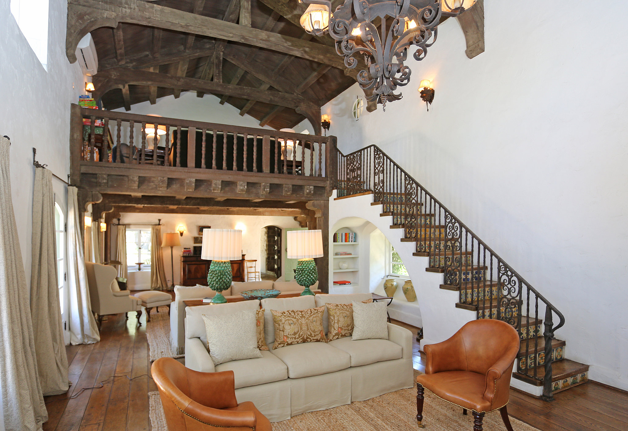The living room highlights some of the many classic for The ranch house in ojai