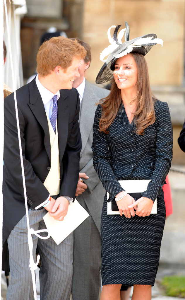 Kate Middleton went with a two-toned black and white hat for the Order of the Garter service in 2008.