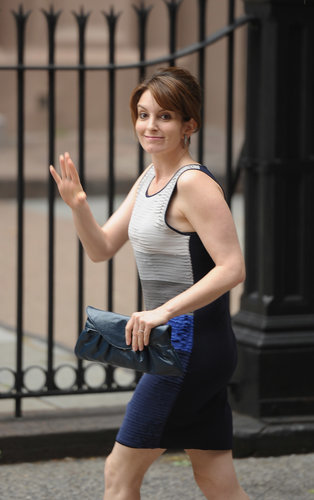 Tina Fey was on hand in NYC for Alec Baldwin and Hilaria Thomas's nuptials in June 2012.