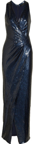 Donna Karan Sequined stretch-tulle gown