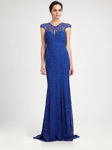 ML Monique Lhuillier Lace Gown
