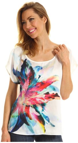 DKNY Jeans - Amazon Floral Print Top (White) - Apparel