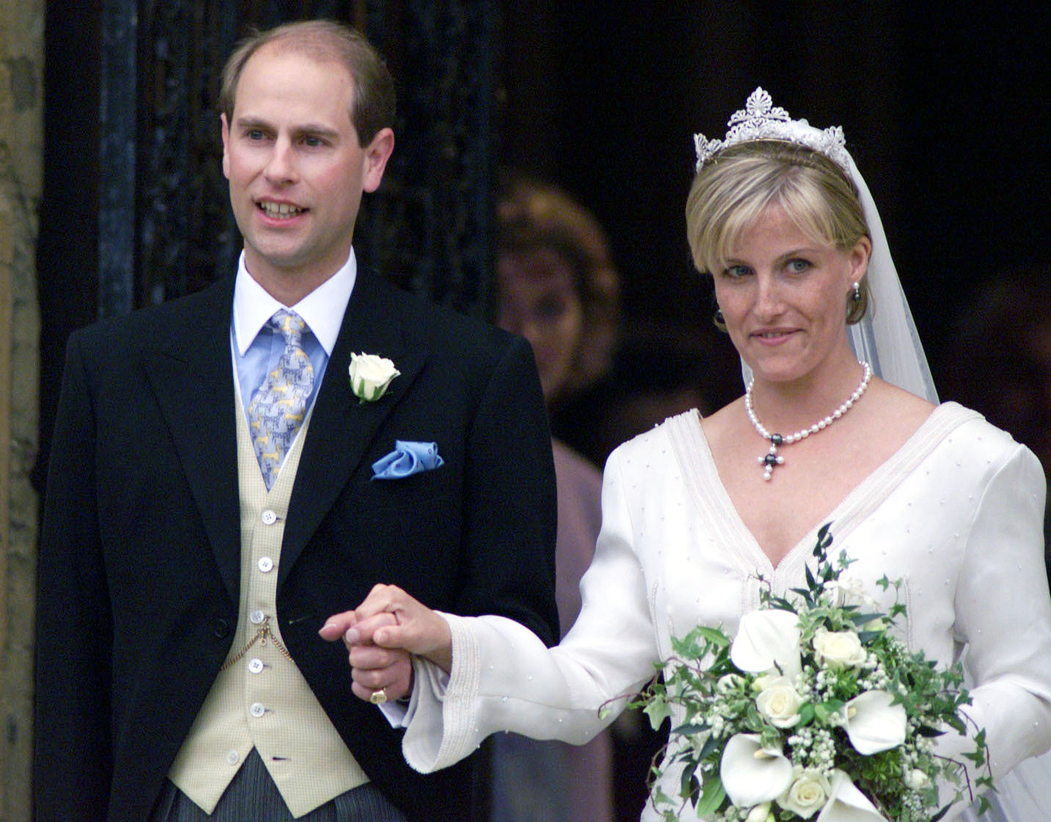 Queen Elizabeth's son Prince Edward married wife Sophie in June 1999 in Windsor, England.