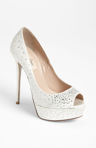 Valentino 'Bridal' Open Toe Pump