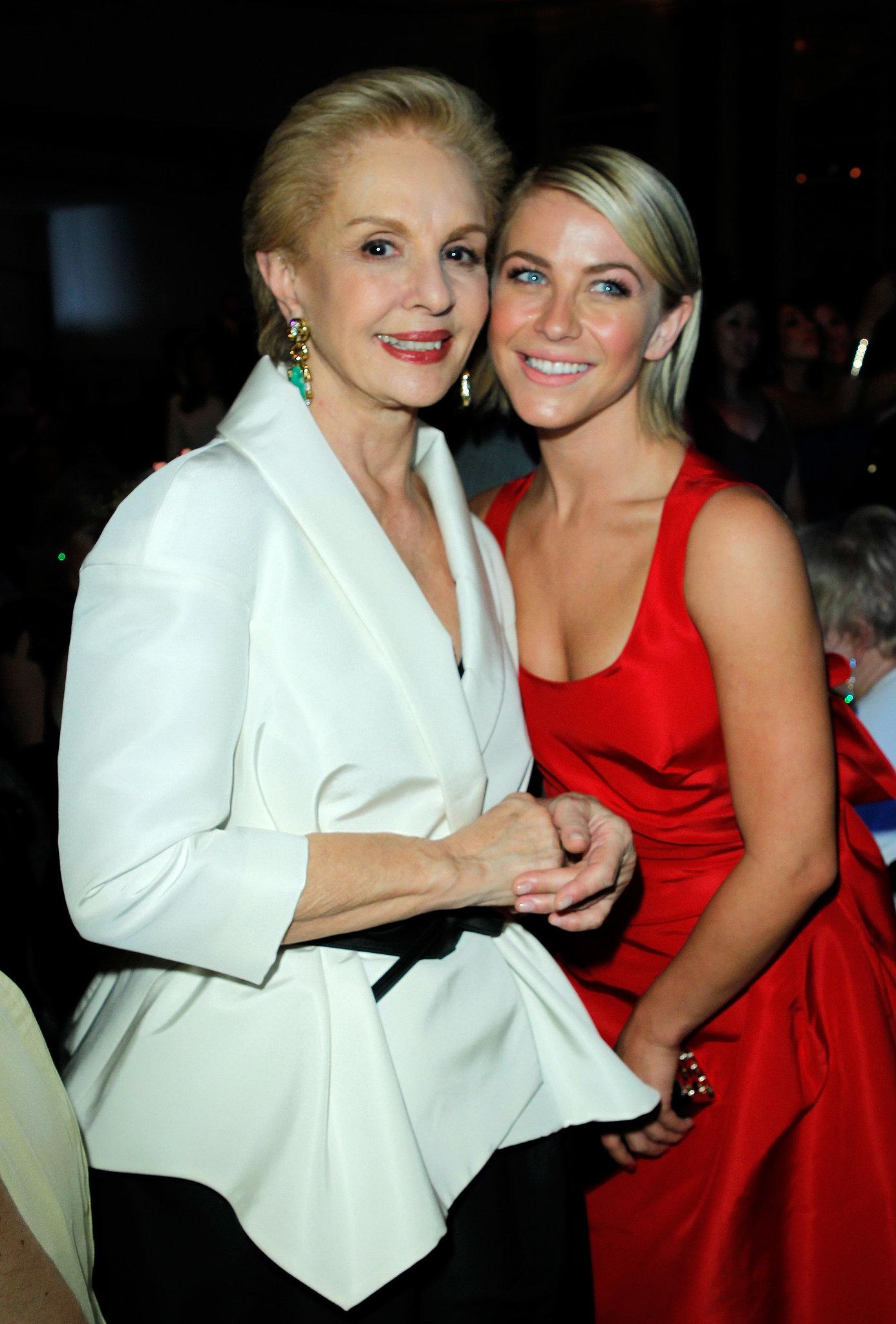 Julianne Hough got together with designer Carolina Herrera in Beverly Hills.