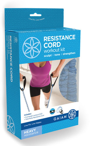 Gaiam Covered Resistance Cord Workout Kit - Large Resistance