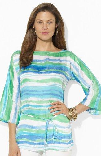 Lauren Ralph Lauren Print Georgette Tunic