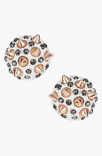 Topshop 'Spike Stone' Stud Earrings