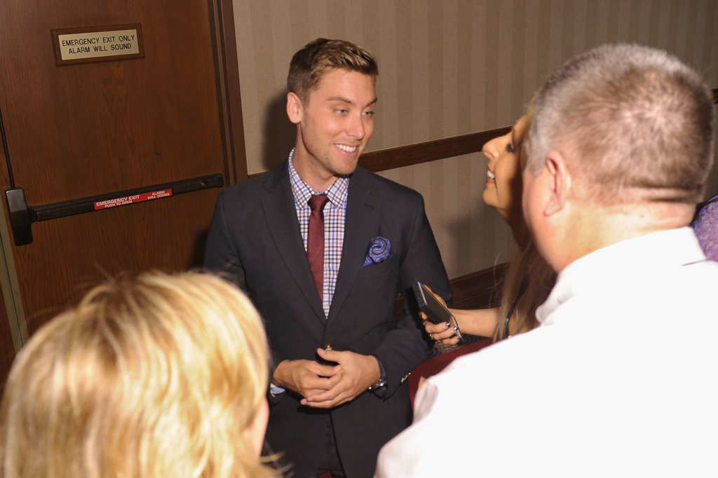Lance Bass attended the Unbridled Eve Gala on Friday.