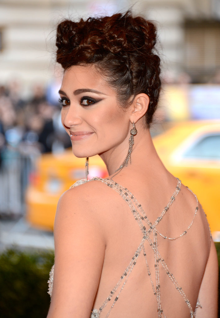 Braids can make for a seriously edgy updo. Just ask Emmy Rossum at this year's Met Gala.