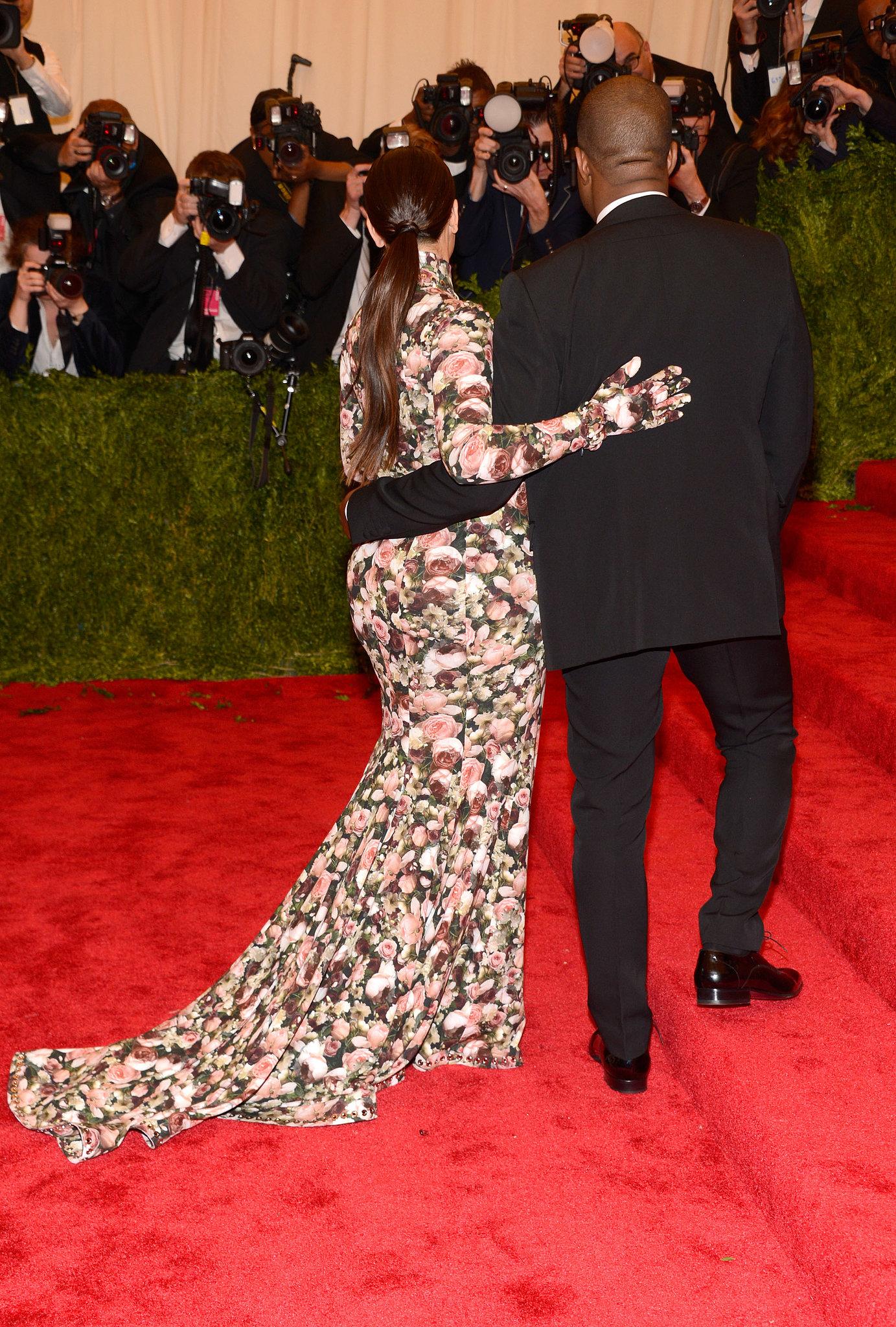 Kanye West and Kim Kardashian at the Met Gala 2013.