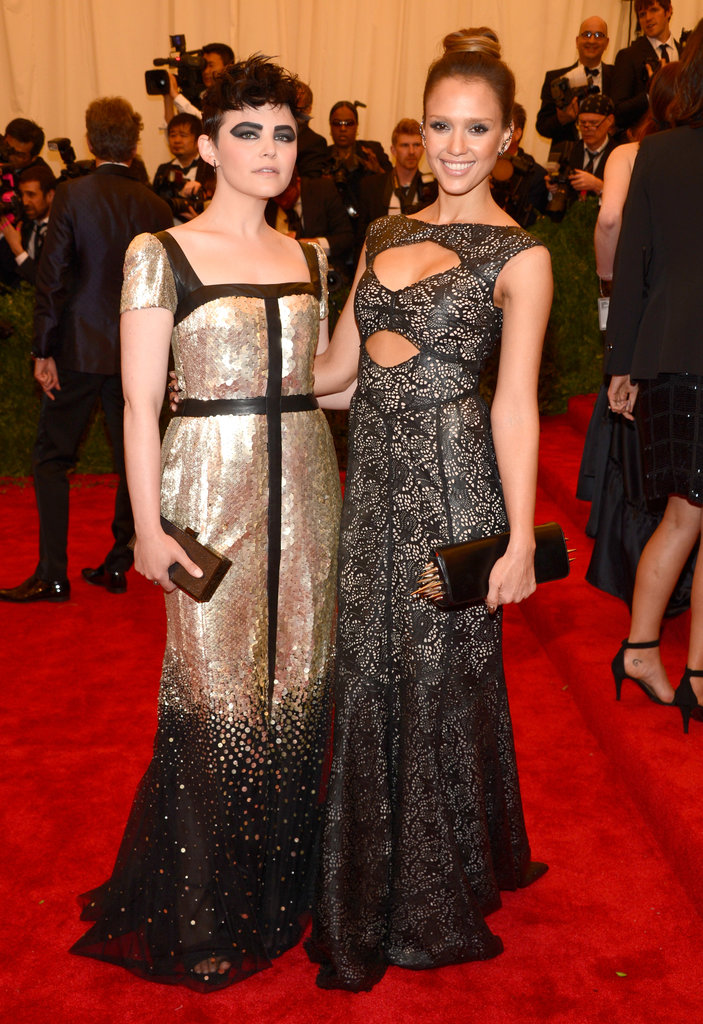 Jessica Alba and Ginnifer Goodwin at the Met Gala 2013.