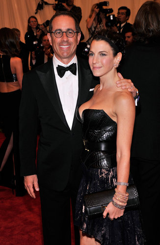 Jerry Seinfield and Jessica Seinfeld at the Met Gala 2013.