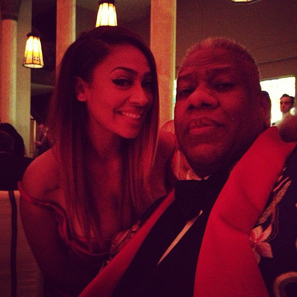 La La Vazquez got the Met Gala party started inside the event with Andre Leon Talley.  Source: Instagram user lala
