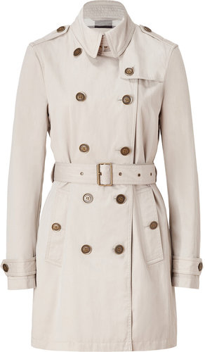 Burberry Brit Trench Cotton-Blend Pembrooke Trench Coat