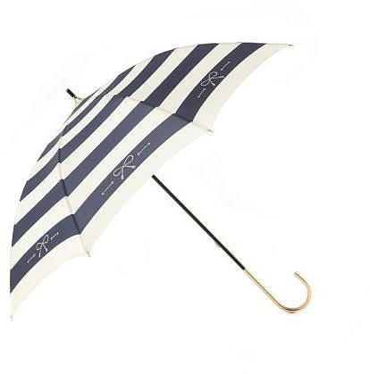マトリーチェ バイ ヴォイスメール 太ボーダーリボン箔プリント晴雨兼用傘