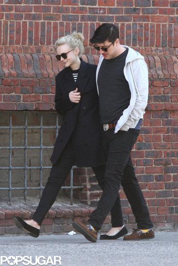 Carey Mulligan had her husband, Marcus Mumford, by her side.