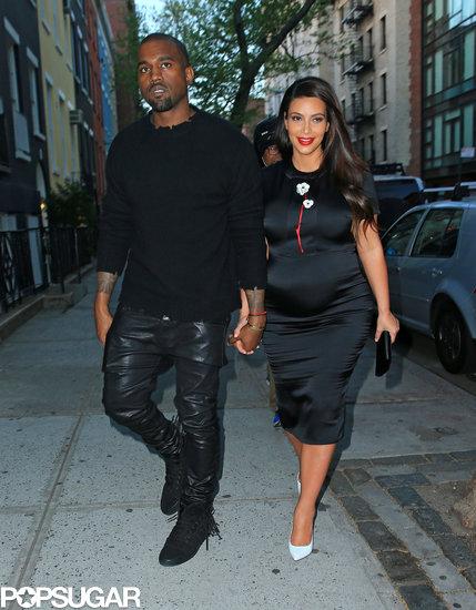 Kim Kardashian and Kanye West grabbed dinner together.