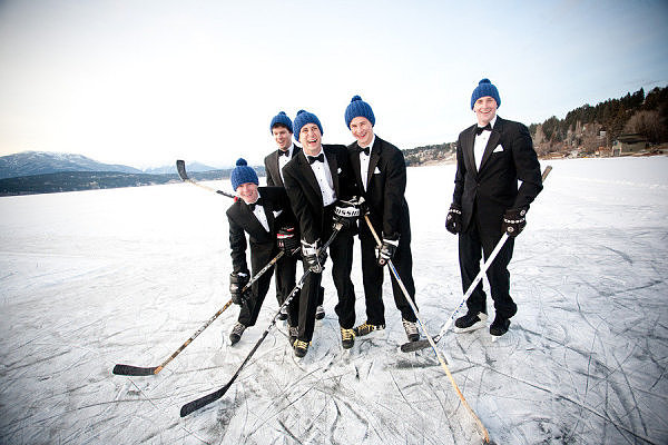 Groomsmen Hockey Game