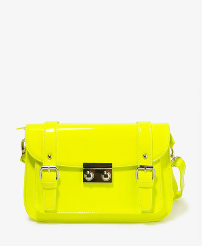 FOREVER 21 Patent Messenger Bag