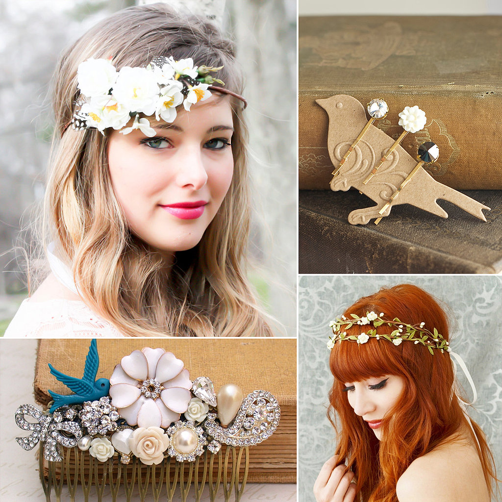 40 bridal hair accessories from etsy popsugar beauty for Where to buy wedding accessories