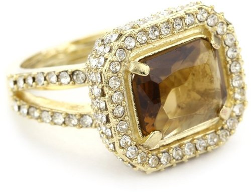 "ABS By Allen Schwartz ""Holiday Gems"" Gold-Tone Ring, Size 7"