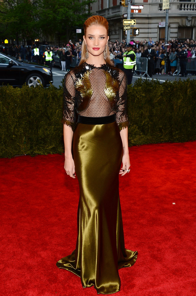 Rosie Huntington-Whiteley at the Met Gala 2013.