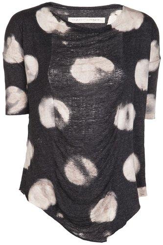 Raquel Allegra Soft dotted basic t-shirt