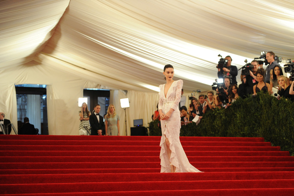 Rooney Mara had the grand staircase all to herself, since she was one of the first to arrive.